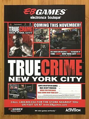 True Crime: New York City PS2 Xbox GCN 2005 Vintage Print Ad/Poster Official Art
