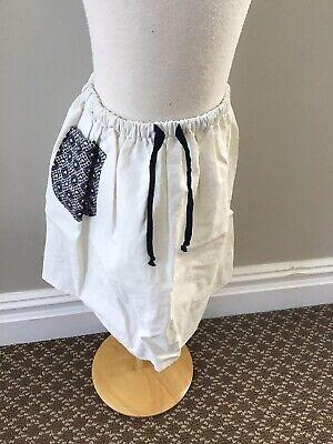 La Bottega Di Georgia Blue Pocket Skirt 8 Nwt