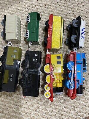 "8 Cars TRAIN ""THOMAS"" TANK #1 STEAM ENGINE, MILK, Molly, Dodge, Diesel CARS"