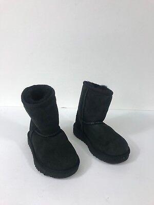 Ugg Australia Kid Black Classic Short Boots Size 8  #345, used for sale  La Puente