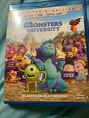 Monsters University Blu-Ray/Dvd/Collector's Edition Never Played - Blue Buddies Halloween