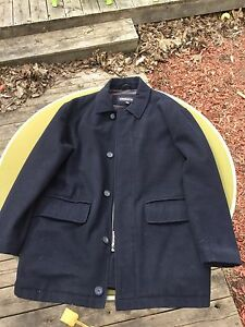 Large Men's Navy Peacoat Liz Claiborne