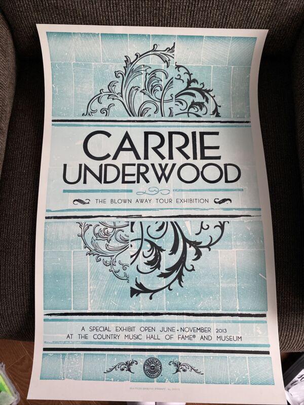 Carrie Underwood Blown Away Tour Exhibit Nashville Poster
