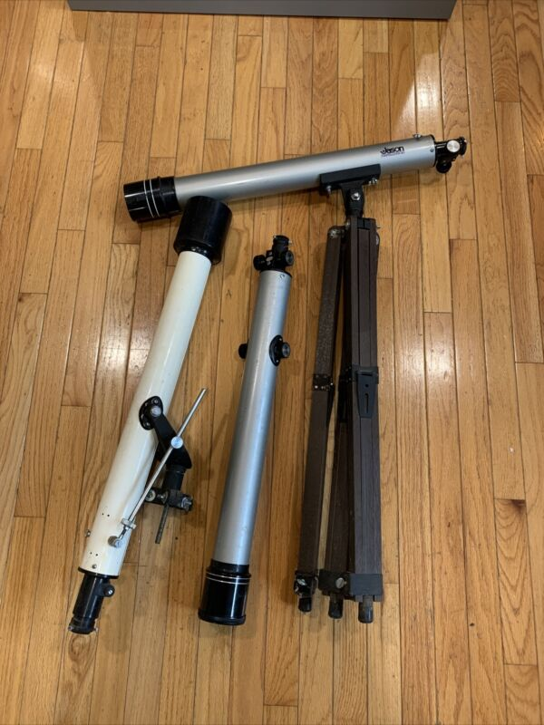 Vtg Jason 280 Constellation Telescope Lot Model 311 Barlow Lens Japan W Stand