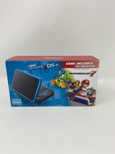 BRAND NEW Nintendo 2DS XL System w/Mario Kart 7 Pre-installed, Black & Turquoise