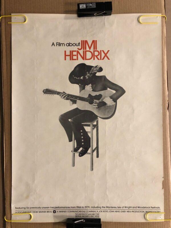 Jimi Hendrix Original Vintage Poster Movie Documentary Music Memorabilia 1973