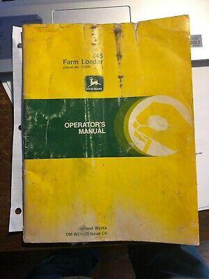 John Deere 146 Farm Loader Operators Manual Om-w21430