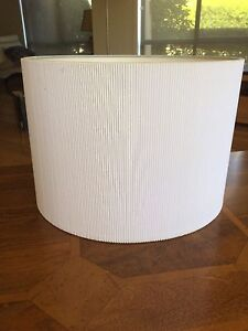 Drum shaped White lamp shades x2 Attadale Melville Area Preview