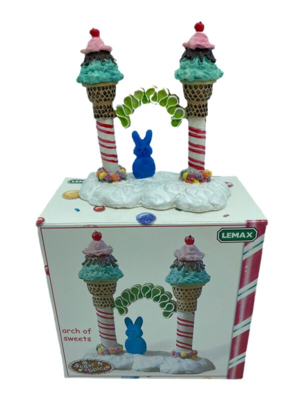 Lemax Sugar n Spice Christmas Arch of Sweets Ice Cream Peep 2004 Retired in Box