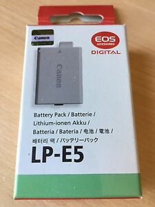 Canon lp5 battery
