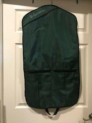 Vintage Samsonite Green Garment Bag Hanging Travel Luggage