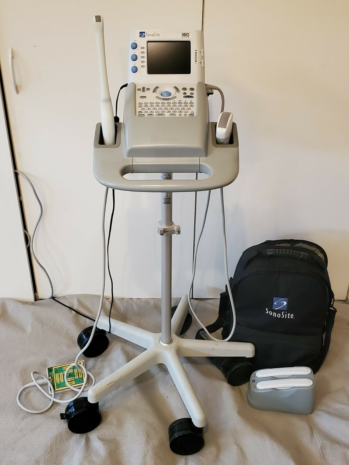 Best USED SONOSITE 180 PLUS ULTRASOUND WITH STAND, 2 PROBES AND BATTERY.  30 DAY WARRANTY
