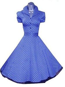 Polka classy modern day 1950 s style swing dress button up 6839 ebay