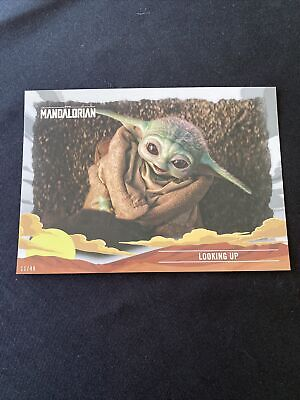 2020 Topps Journey of the Child SP - 5x7 - #24 Looking Up #/49 The Mandalorian