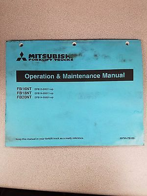 Mitsubishi Forklift Fb16nt Fb18nt Fb20nt Operation And Maintenance Manual