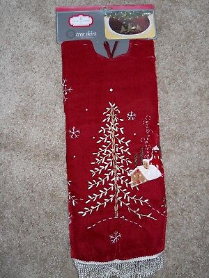 "NEW Red Velvet Christmas Tree Skirt 48 "" by Trim a Home ~ MSRP $24.99"