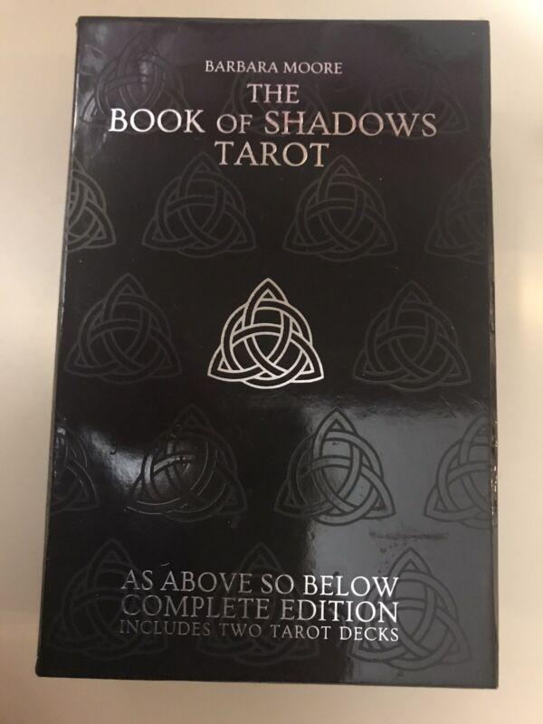 SET TAROT BOOK OF SHADOWS LO SCARABEO DOUBLE 78 CARDS DECKS + BOOK  UNUSED