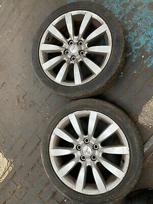 MITSUBISHI LANCER 2.0 DIESEL 2010  18 INCH FULL SET OF ALLOY WHEELS WITH TYRES