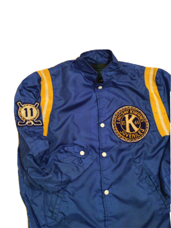 VTG 1965-66 Kiwanis International Club Service Retro Windbreaker Patch Jacket