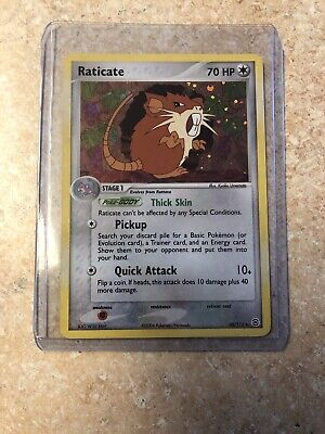 Pokemon 2004 EX Fire Red Leaf Green Raticate Reverse Holo Card 48/112 - NM