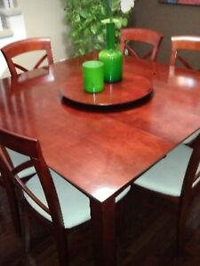 7 pieces Dining table set,curio cabinet,moving garage sale