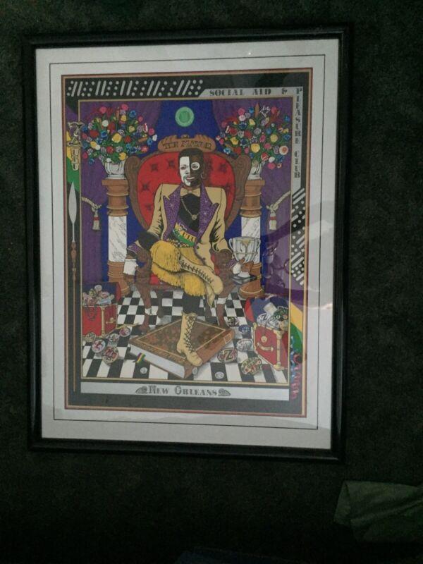 "Zulu ""The MAYOR"" Mardi Gras Art Print New Orleans #/Signed Jessie Jeter"