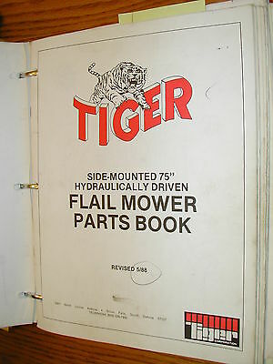Tiger Mower Parts Manual Book Catalog Flail Rotary Ditcher Triple Gang Boom List