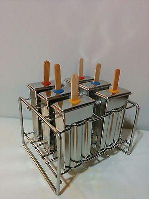 Stiel Eisform Edelstahl Popsicle Form NEU & OVP