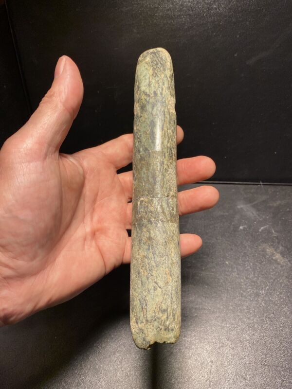 Rare Authentic Pre-Columbian Mesoamerica Mayan Ceremonial Jade Specter Artifact