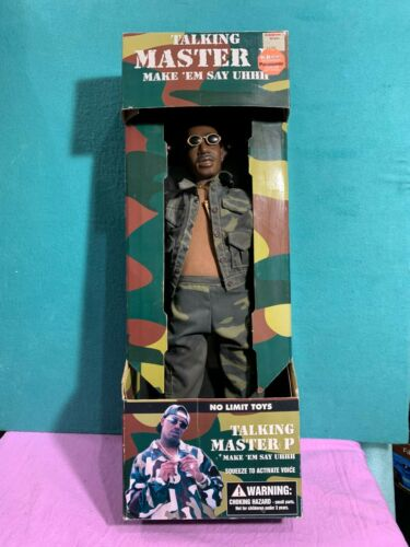 RARE Vintage Master P No Limit Talking Doll Figure Make Em Say Uhh