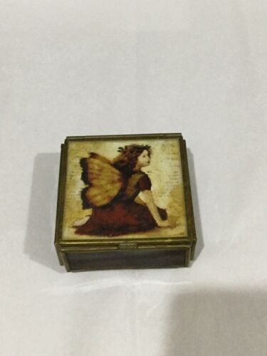 Sweet Fairy Brass Amethyst Glass Box