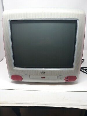 Apple iMac PC G3 Red Computer Vtg 1998 192 Mb  NO keyboard Not Tested