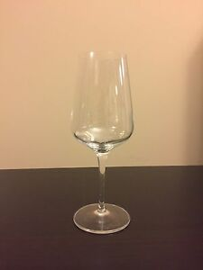 Crystal white wine glasses, set of 4