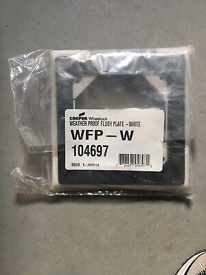 Wheelock Weather Proof Flush Plate - White
