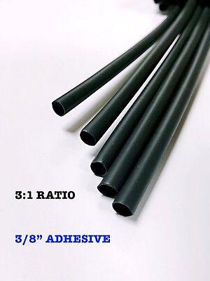 4 Ft. Black 38 9mm Id Dual-wall Adhesive 31 Ratio Heat Shrink Tubing M230534