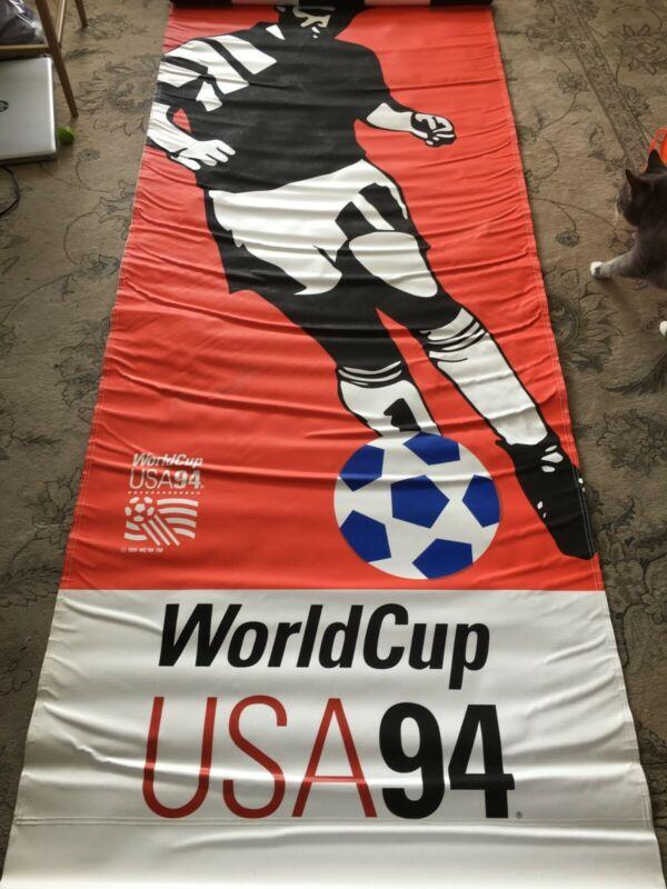RARE - 1994 World Cup Football/Soccer Boston Street Banner- MINT- no advertising