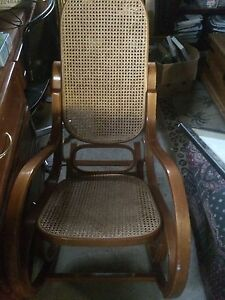 Rocking chair wicker and wood