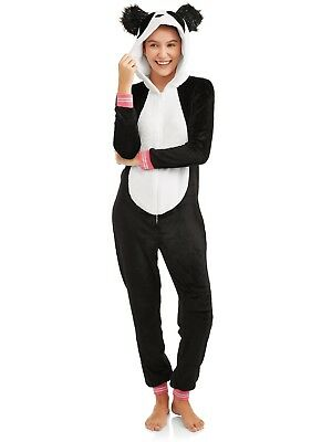 NEW Women's One Piece Pajamas Panda Hood Union Suit Halloween Costume Size XL (One Piece Pajama Halloween Costumes)
