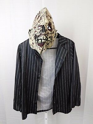 Zombie Gangster, Mobster Boy's Halloween Costume Large Jacket & Mask Only #5194