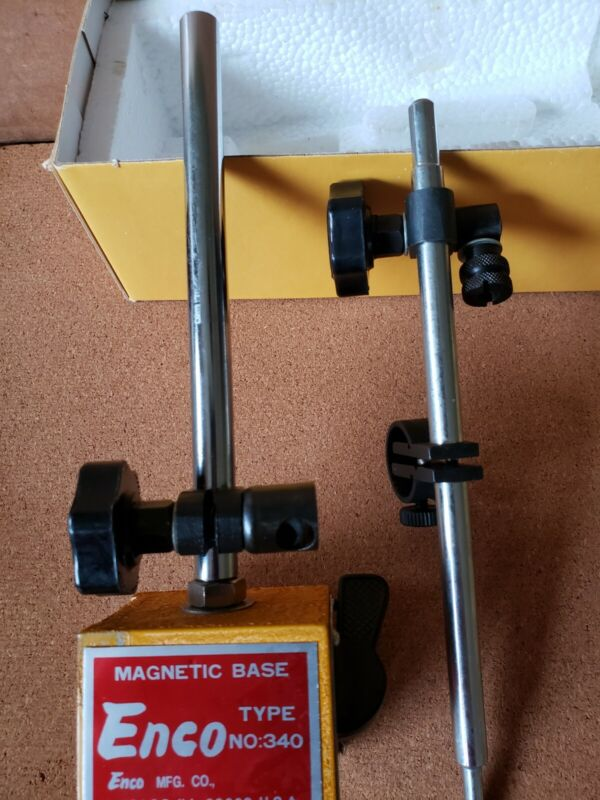 Enco 340 On-Off Magnetic Base Indicator Holder With Fine Adjustment