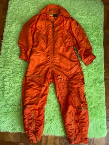 1960 Dated USAF Type CWU-1/P Flight Suit (Hooded) Size Large Long
