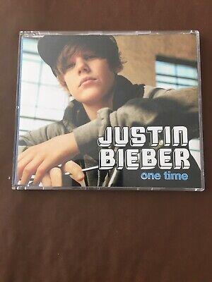 "JUSTIN BIEBER ""ONE TIME"" CD 2 TRACK PROMO"