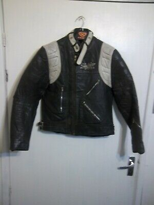 VINTAGE 80'S BELMO DISTRESSED LEATHER MOTORCYCLE PERFECTO JACKET SIZE XS
