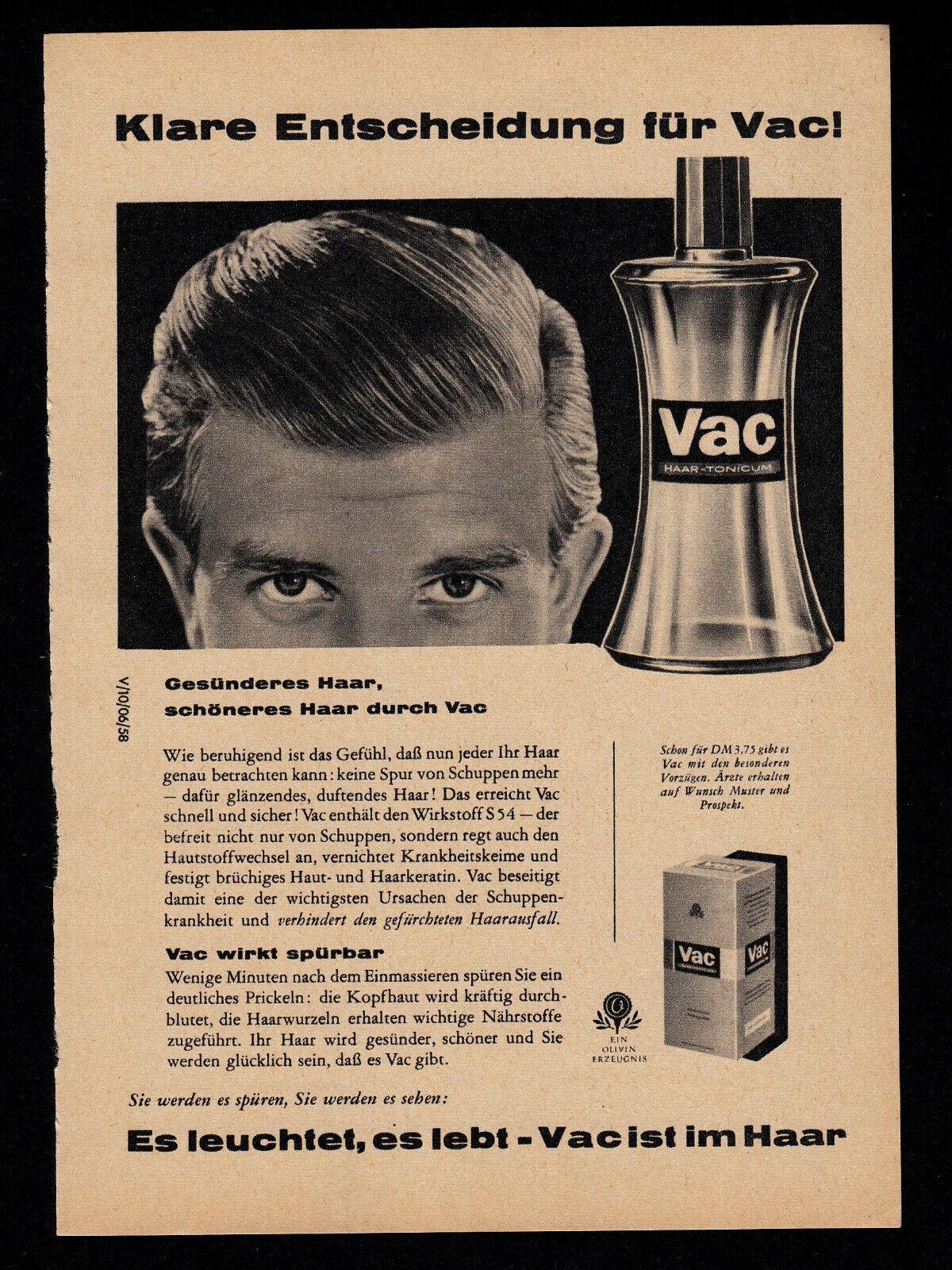3w4669/ Alte Reklame von 1958 – VAC Haartonicum