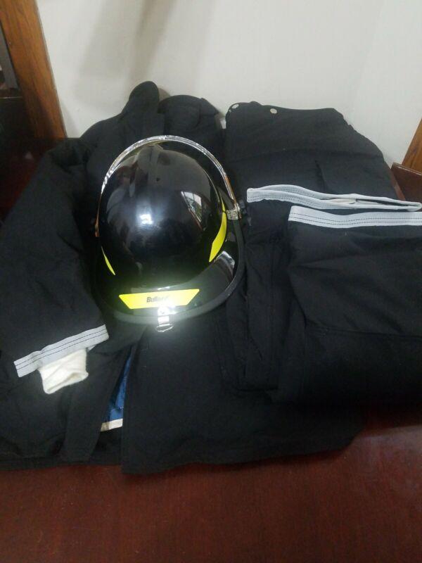 New Globe fire Coat 48-35 & Fire pants 46-30 Bullard Helmet 6.5- 8 2003 model