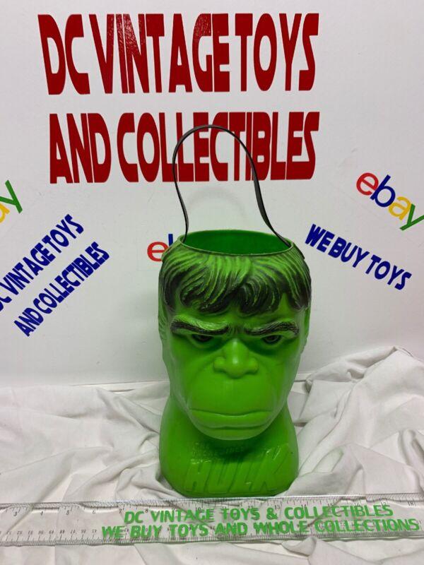Vintage Marvel The Incredible Hulk 1979 Renzi Halloween Bucket Candy Pail