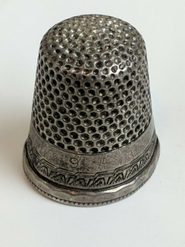 Antique Sterling Thimble Ketchum & McDougall  MKD Size 9