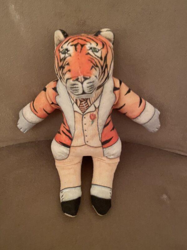 "Vintage 1992 The Toy Works Stuffed Tiger Gentleman Suit Plush Beanie 9"" Rare HTF"