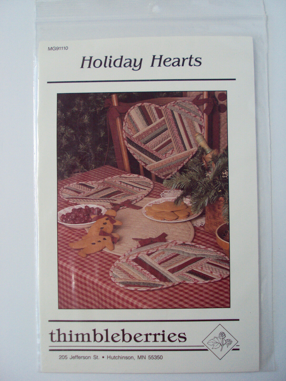 Holiday Hearts Thimbleberries Crazy Quilt Placemat Tablerunner Chair Valentines - $4.71