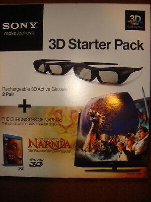 Sony 3D Glasses Bundle Starter kit /Narnia Blu-Ray disc  - Brand New & Sealed!!!